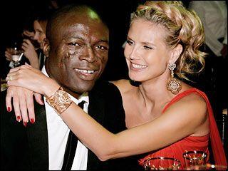 Seal and Heidi Klum! Easy wavy hair updo