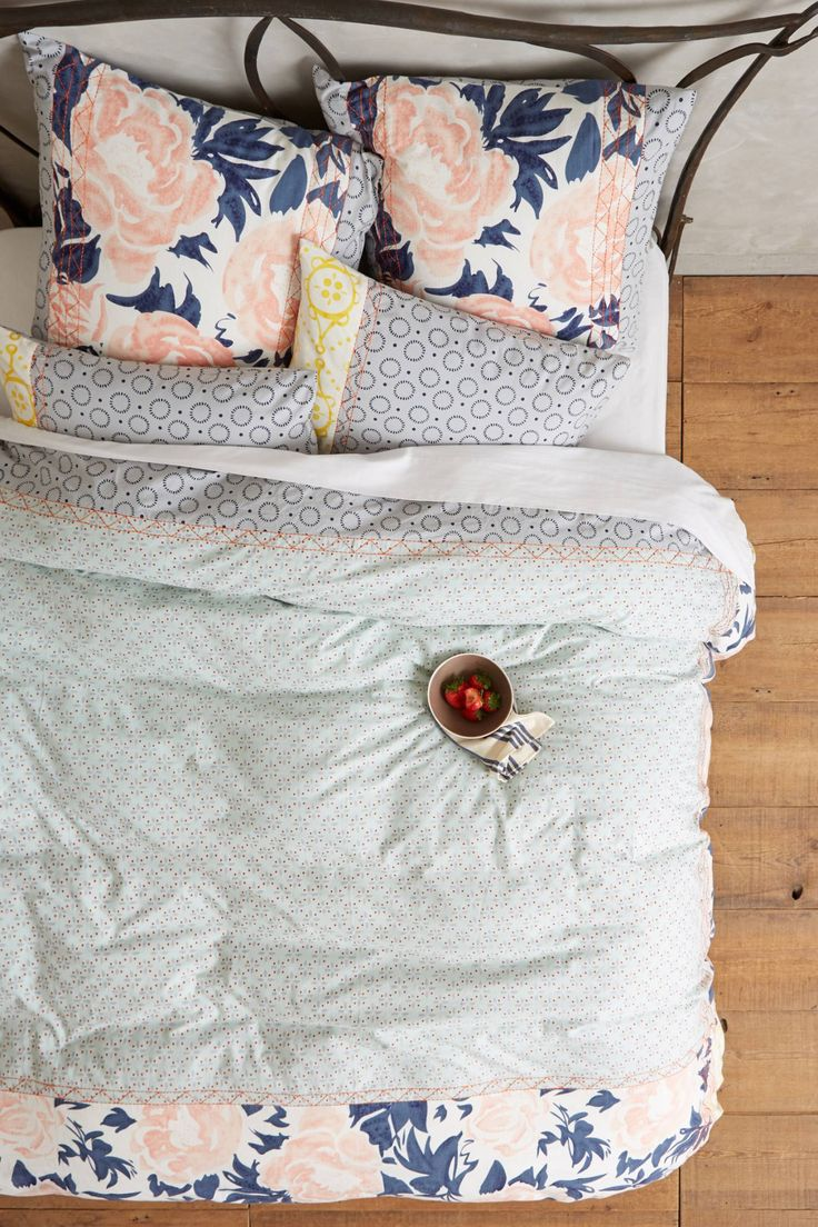 Gorgeous floral printed bedding.