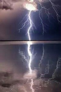Lightning Over Water Reflection
