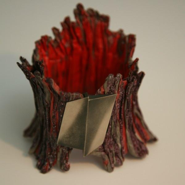 Purple Red Metal Bracelet