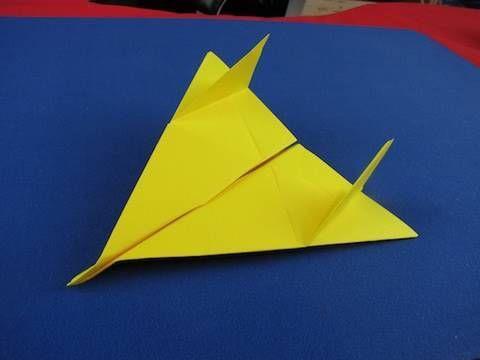 Floating Paper Airplane Semplice aereo di carta , modello F 16 tutorial 折り紙