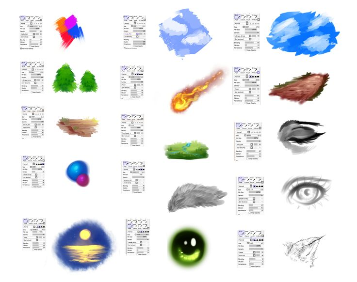 97 best paint tool sai images on pinterest art tutorials brushes settings for paint tool sai by rykyiantart on deviantart ccuart Images