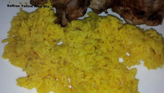 My family loves Mahatmas Saffron Yellow rice, but I dont love the sodium content! This is close enough that my family doesnt know the difference, but I do... oh well, I shall perfect it in time.