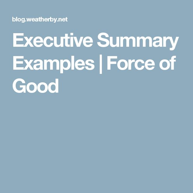 what is executive summary