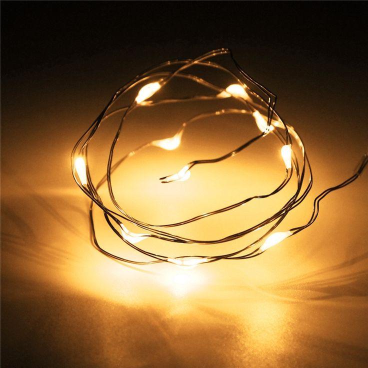 Водонепроницаемый 1 М 10 LED Питание От Аккумулятора Управлением Многоцветный Медный Кабель Провод Фея Свет Шнура СИД Рождество Свадьбы Декор лампы