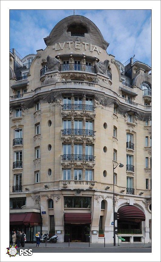 Hôtel Le Lutetia (1910) 45, boulevard Raspail Paris 75006. Architecte : Louis-Charles Boileau assisté par Henri Tauzin.