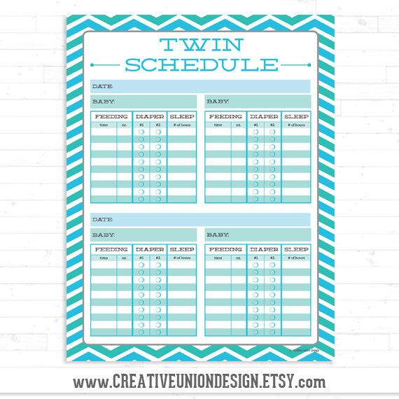 Instant Download  Twin Schedule  Twin by CreativeUnionDesign, $1.00