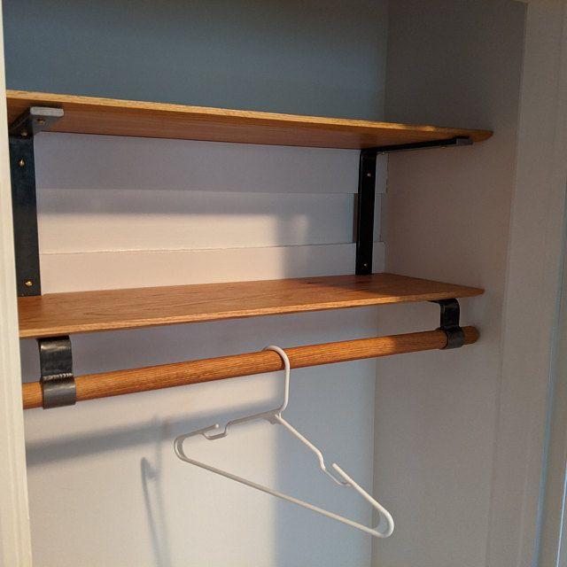 1 Bracket For Closet Rod Shelf D Series Etsy In 2020 Closet Rod Shelves Wood Shelves