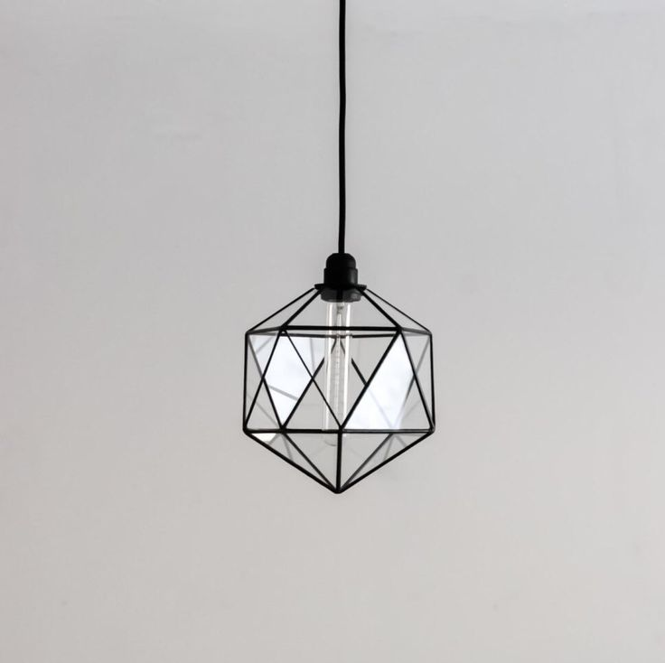 Icosahedron Glass Chandelier / Geometric Pendant Light /Modern Warm Retro Bulb Lamp /70's industrial retro furniture / Minimalist Lighting by StereometricDesign on Etsy https://www.etsy.com/listing/293143297/icosahedron-glass-chandelier-geometric