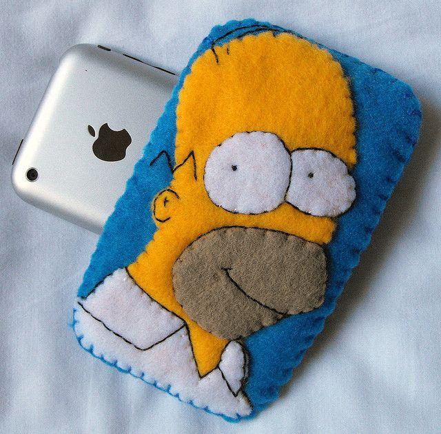 Homer Simpson iPhone iPod Case by SarahandLuiza, via Flickr