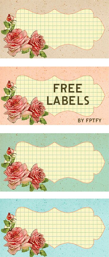 Personalized Labels: Vintage Rose - Free Pretty Things For You
