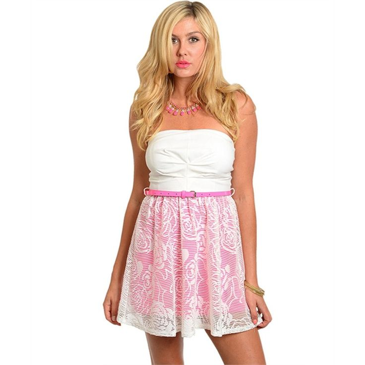 Strapless babydoll dress