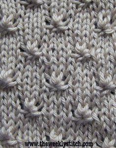 Ponto de tricô bonito e delicado