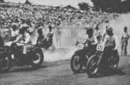 1949年(昭和24年)11月6日、「全日本モーターサイクル選手権」によって、 我が国の戦後レースが復活します。