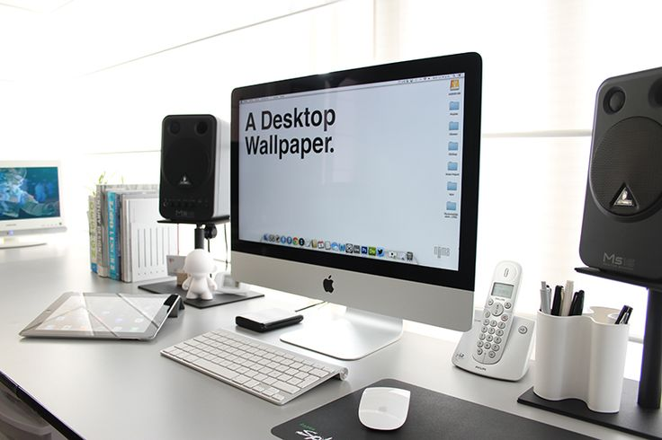 203 best images about imac desk office ideas on pinterest office spaces home office and - Desk for inch imac ...