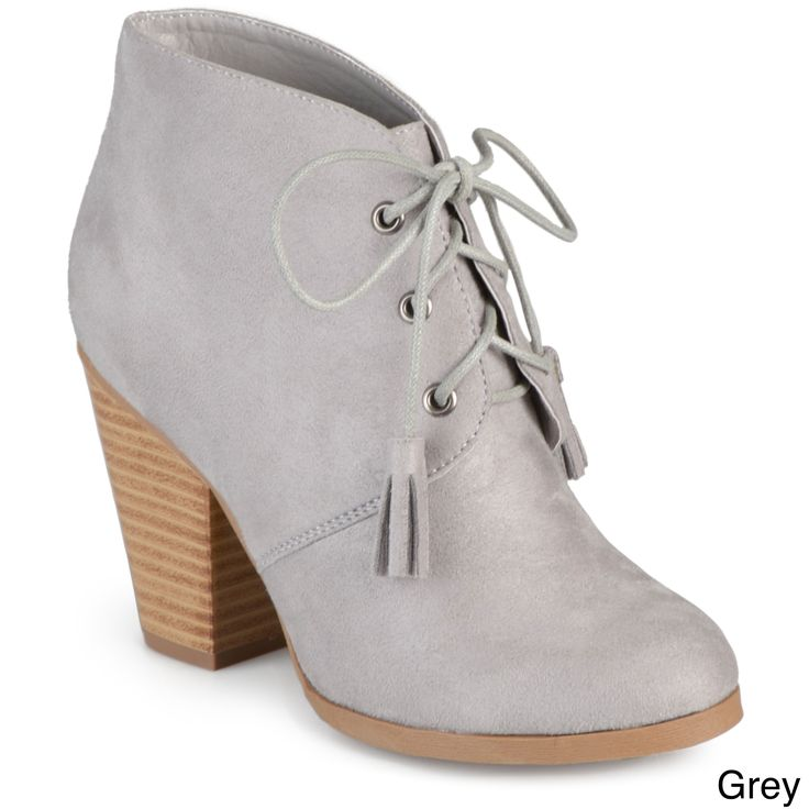 Journee Collection Women's 'Wen' Faux Lace-up Ankle Booties
