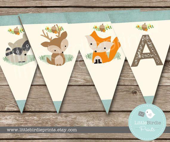 Woodland Birthday Party Invitation Party by littlebirdieprints