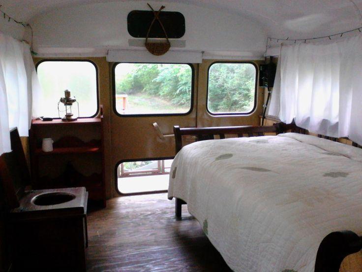 Sweatsville: Simple Rustic School Bus Conversion