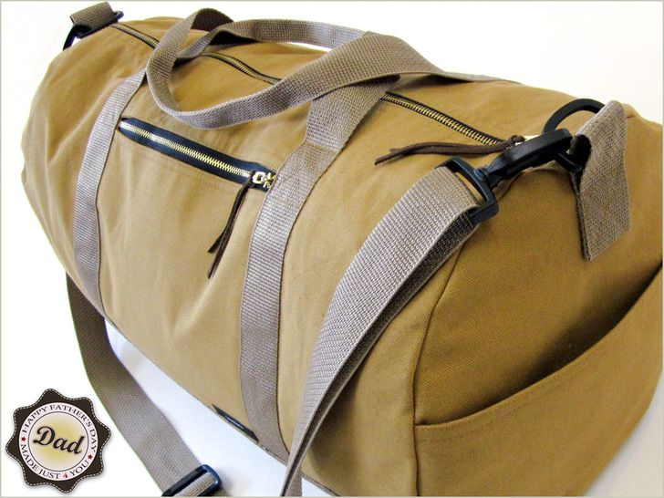 Father's Day with Fabric.com: Safari Duffle Bag in Canvas & Faux Leather | Sew4Home