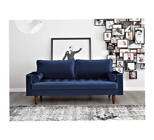 Wood Style Home Sofa Blue Office Decor Studio Living Heavy Duty Commercial Bar Cafe Restaurant Home Decor Style Office Decor