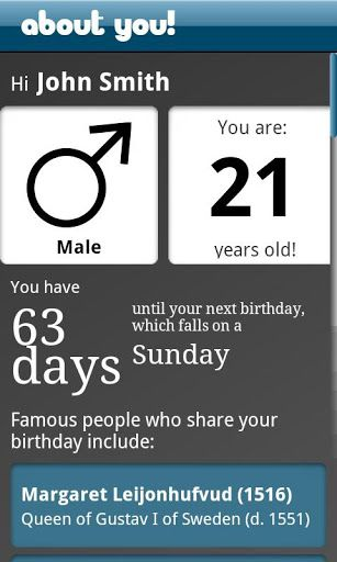 Containing information about your zodiac, chinese zodiac, birthstones, birthflowers, famous birthdays, historical events, numerology information and name meanings, About You! is the most fully-featured numerology and astrology app on the market. <p>Featur