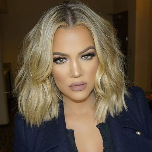 Khloe Kardashian blonde | brunette - blonde transition | color | 6 Beauty Tricks from the Kardashians | Kardashian beauty | hair color tips