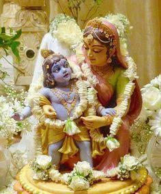 Yashoda with baby Krishn