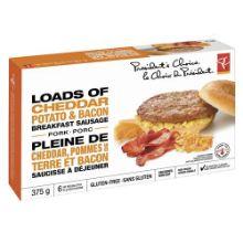 PC Loads of Cheddar Potato & Bacon Pork Breakfast Sausage