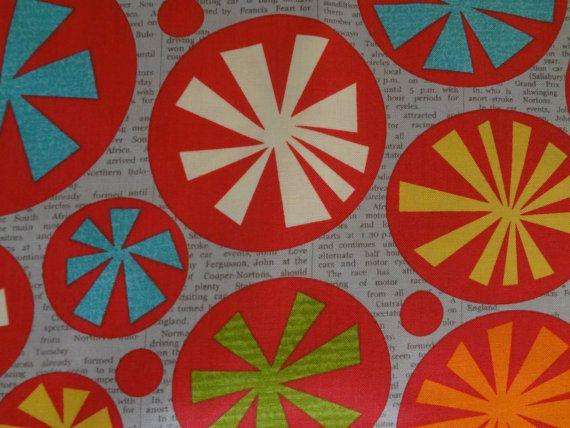 Mod Century Moda Fabric Jenn Ski design by SquidLegsFabrics, $7.00