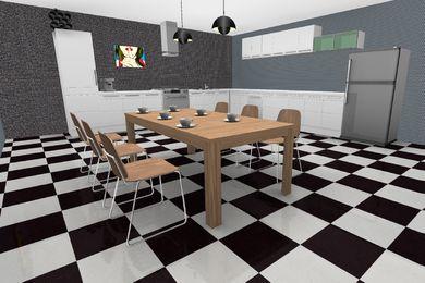 3d køkken tegnet i 3D-programmet LoveMyHome