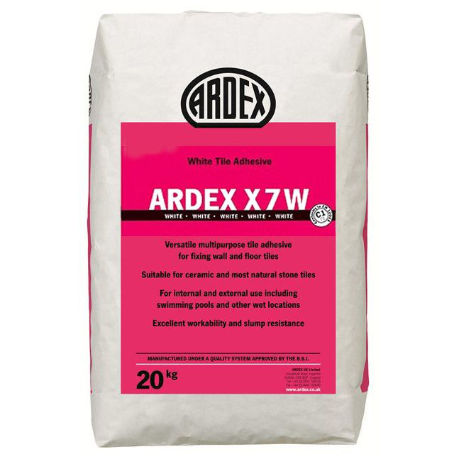 ARDEX X7 W was first launched to the trade in the 1970s and, to this day, remains at the forefront of the professional tiling industry. Like all ARDEX products, ARDEX X7 W continues to offer the professional tile fixer excellent application properties and performance they can trust.