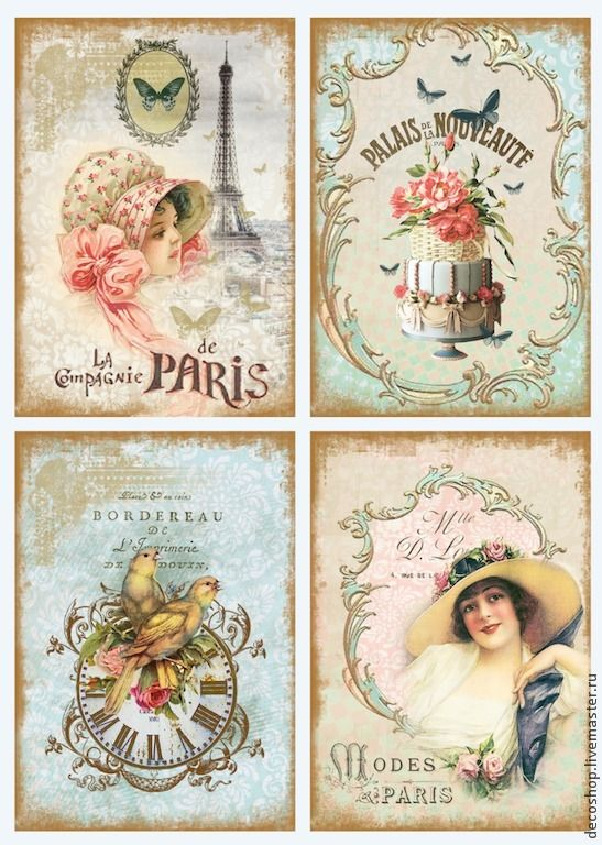 "Decoupage for ""Flowers of Paris (decoshop)"". Discussion on LiveInternet - Russian Service Online Diaries"