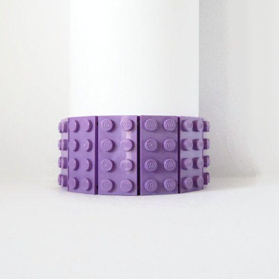 Unique bracelet - Brick Bracelet - Block Bracelet - Building Blocks Bracelet - Building Blocks Jewelry - Lavender Bracelet - Gift for Geeks