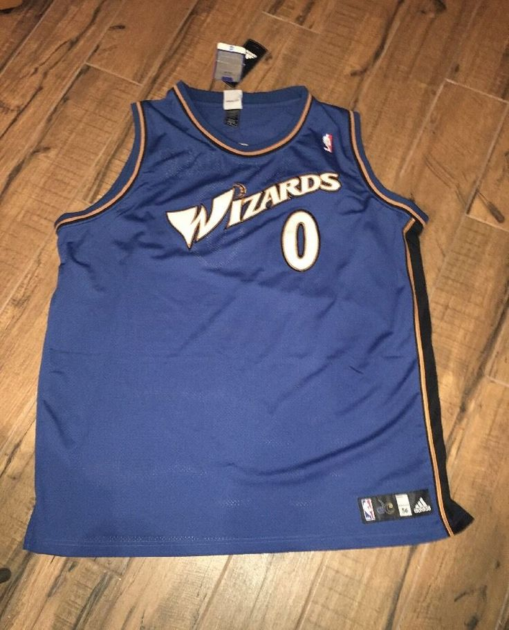3932cb707 ireland gilbert arenas 0 washington wizards basketball jersey blue adidas  sewn mens 56 adidas 76b30 bf099