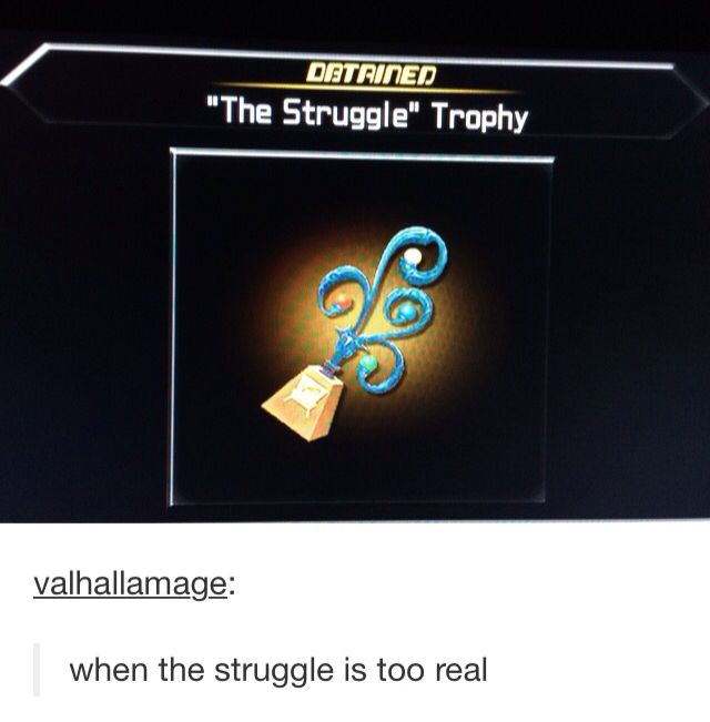 I did think this when I got that trophy....