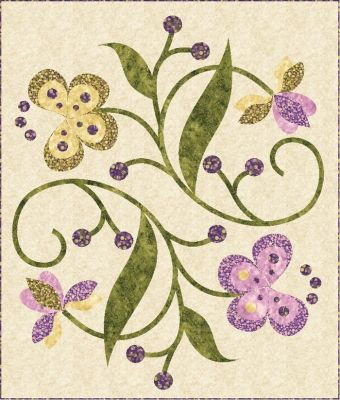 Dancing Blossoms Quilt Pattern TRQ-172