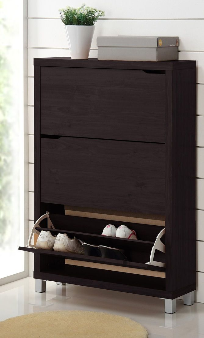 Modern Shoe Cabinet // Dresser: Cappuccinos, Baxton Studios, Dark Brown, Organizations, Drawers, Simm Modern, Furniture, Shoes Cabinets, Modern Shoes