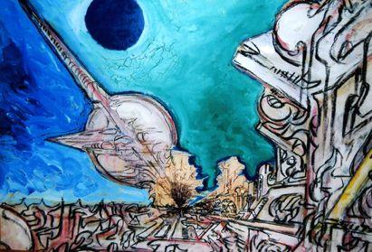 Dipinti di Romano Botti - La città futura