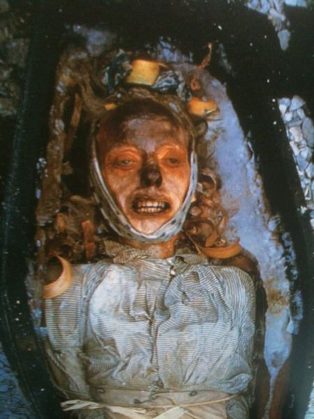 The preserved body of John Torrington in 1984, who had died 138 years earlier in 1846 during Sir John Franklin's lost expedition in the Canadian Arctic.
