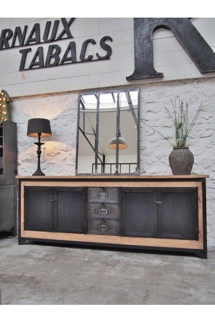 Enfilade industrielle en chêne vers 1930 cabinet Pinterest - champignon de maison merule