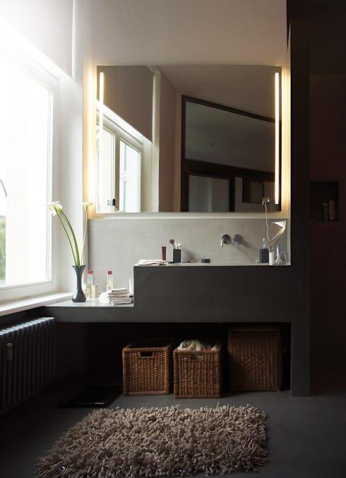 Badezimmer Waschtisch: moderne Badezimmer von Meylenstein