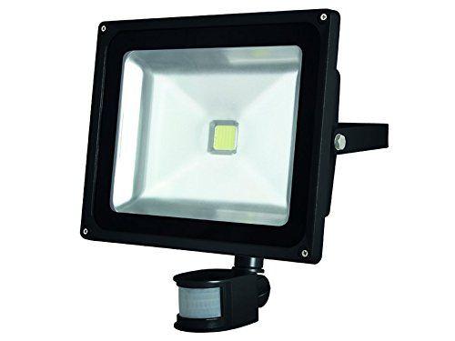 perel aussenbereich led spot light with pir sensor 50 w epistar chip warm white 3000 k 29 x. Black Bedroom Furniture Sets. Home Design Ideas