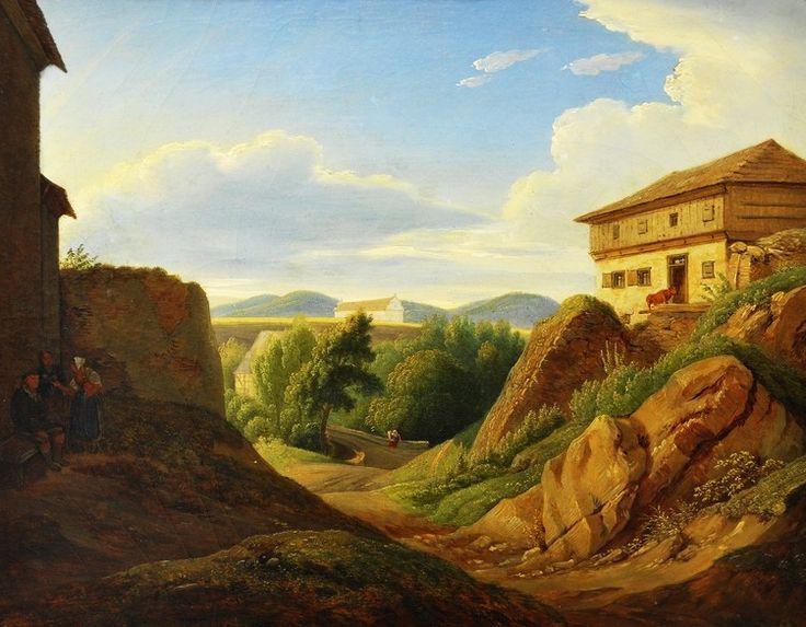 Antonín Mánes (1784-1843) Krajina se stavením