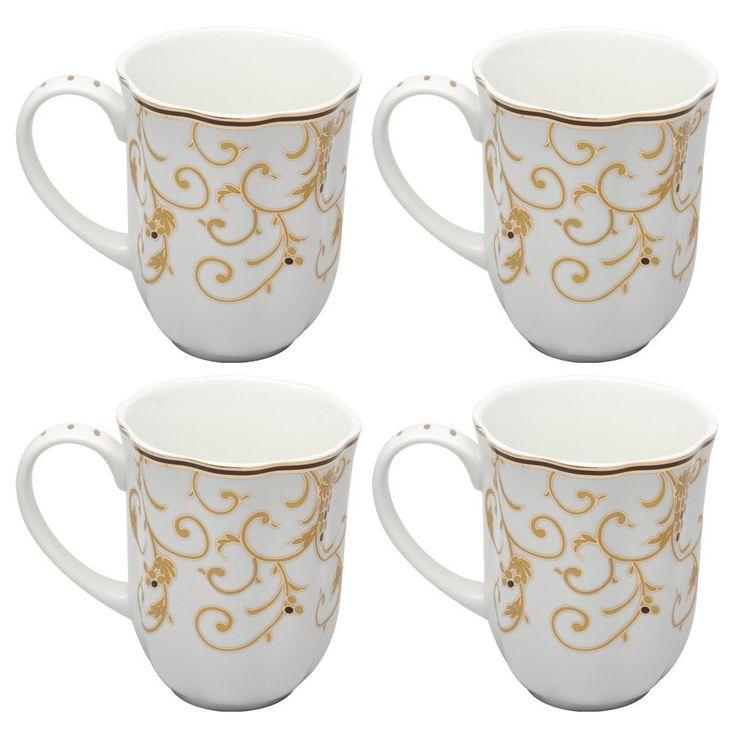 Lovely White China Coffee Mugs