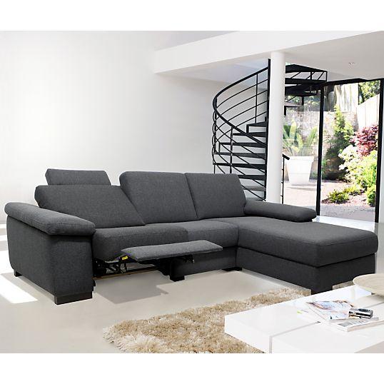 Canapé d'angle relax tissu Pilgrim