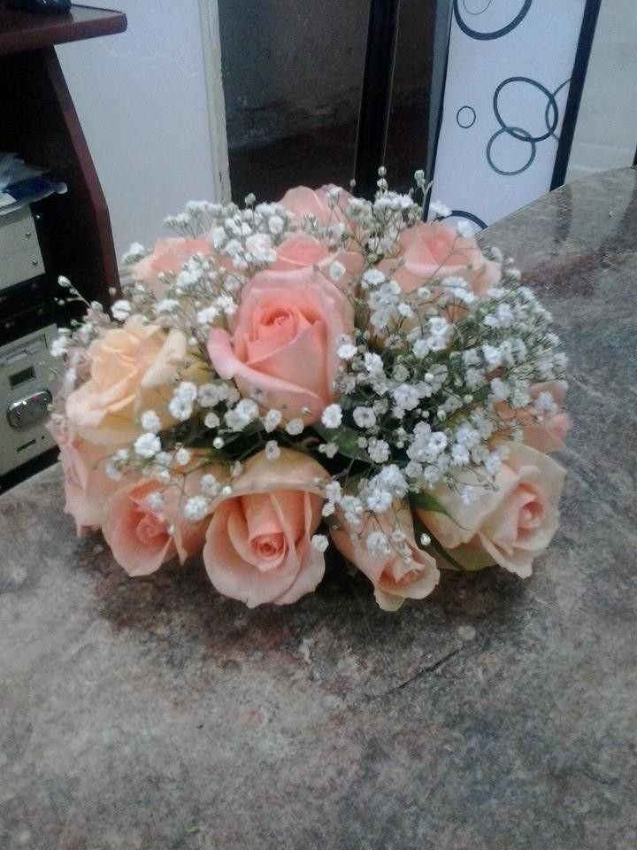 media esfera de rosas centros de mesa naturales o artificial