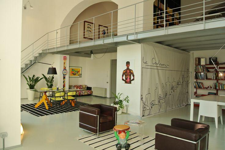 Una visione completa del nostro studio su due livelli #architettura #loft #interior