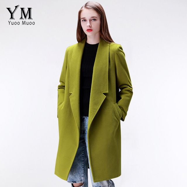 YuooMuoo Brand Design Winter Coat Women Warm Cotton-padded Wool Coat Long Women's Cashmere Coat European Fashion Jacket Outwear US $74.58 To Buy Or See Another Product Click On This Link  http://goo.gl/Ln6ntd