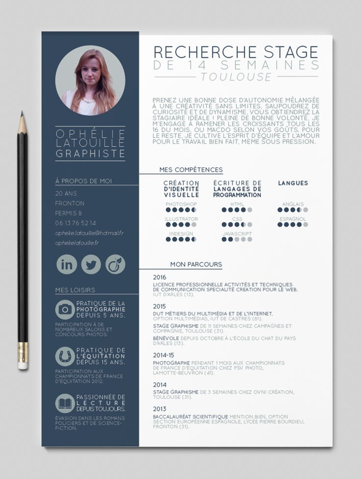 13 best cv graphiste images on pinterest