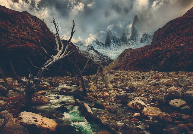 Crossing Rivers in the Andes by Stuck in Customs, via Flickr